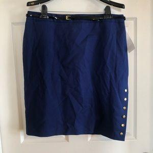 Dresses & Skirts - Dark blue/navy skirt with gold button detail